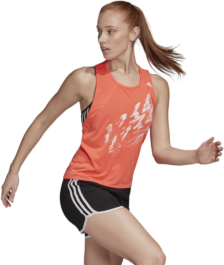 adidas Speed Tanktop Dames, solar red